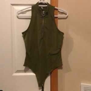 Army green body suit